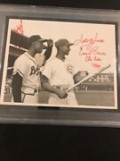 Hank Aaron And Ernie Banks 1957 Type 1 Original Photo Psa/dna Vintage Autos Jsa