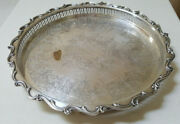 Webster Wilcox Is Decorative Silverplate Footed Tray Joanne Ptn 15 Diam Used