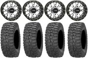 System 3 St-3 Machined 14 Wheels 28 Rock-a-billy Tires Sportsman 550 850 1000