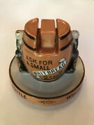 Whitbread Stout And Ale Beer Barrel Match Holder Ashtray Breweriana Tobacciana