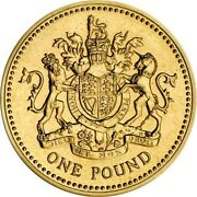 Used Old Andpound1 Pound Coin 1993 The Royal Arms Gdp Circulated Condition Rare