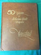 50 Years Of Schwinn-built Bicycles First Edition 1945 With Attached Certificate