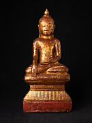 18th Century Wooden Shan Buddha Statue From Burma 18th Century