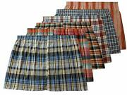 Menand039s True Big And Tall Usa Classic Design Plaid Woven Boxer Shorts Underwear 6