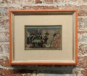 Nino Caffe - 3 Carabinieri And A Young Couple -oil Painting