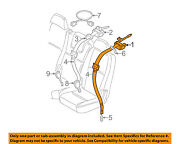 Volvo Oem 05-06 Xc90 Rear Seat Belts-belt And Retractor Right 8639502