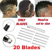 20x Alloy Hairdressing Carving Pens Blade Razor Shaver Diy Hair Style Pack Of 20