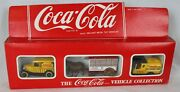 Vtg Hartoy Coca Cola Coke Vehicle Coll Metal Old Time Toy Cars Die Cast England