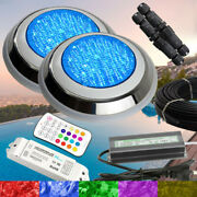 2 X Extremely Bright Swimming Pool Rgb Led Light Rgb Controller Power Kit+cable