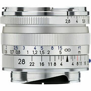 New Carl Zeiss Biogon T 28mm F2.8 Zm Wide Angle Lens Silver Leica M M9 M8.2