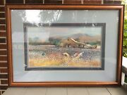Jack C. Deloney Lowland Cotton 1986 Print Framed Signed And Numbered 410/500