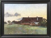 Wilhelm Facklam Attributed To - Old Home And Blooming Meadow At Swan