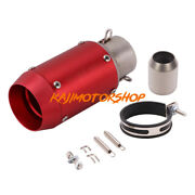 Universal 51mm / 2and039and039 Motorcycle Exhaust Muffler Pipe 174mm Short Silencer Tube