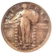 1927-s Standing Liberty Quarter 25c Coin - Certified Anacs Vf20 - Rare Date