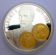 Netherlands Antilles 10 Gulden 2001 Silver Proof With Gold Trade Coin 20 Francs