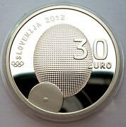 Slovenia 30 Euro 2012 Silver Coin Proof First Olympics Medal By Rudolf Cvertko