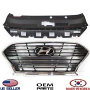 Grille Radiator Front And Cover Upper⭐set 2pcs⭐【genuine】 Sonata 2018-2019