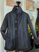 Blue Duck 3208c Nice Coat Genuine Shearling Reversible Coat Size S Made In Usa
