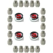 New Mustang Magnum Red Ford Crest Wheel Center Cap Set And Lug Nut Kit 1960-1977