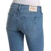 True Religion Women's Halle Super Skinny Fit Stretch Jeans In Midnight Frost