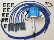 Ford Small Block 289 302 Hei Distributor + Blue 8.5mm Universal Spark Plug Wires