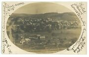 Rppc Aerial View Of Shinglehouse Pa Potter County Real Photo Postcard 1