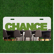 Custom Personalized License Plate Auto Tag With Chance In School Class Design