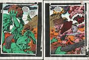 New Gods 4 Production Art Colored Signed Jack Kirby Anthony Tollin Coa Pg 2 And 3