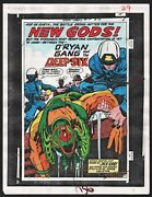 New Gods 4 Production Art Hand Colored Signed Jack Kirby/ Tollin W/coa Pg 5