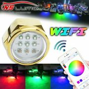 Led Drain Boat Plug Lamp Wifi Controlled Color Changing Fishing Underwater Light