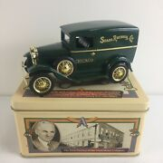 Henryand039s Lady Ford Model A Die-cast Bank In Tin Box - Sold By Sears