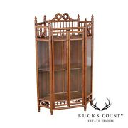 Antique Victorian Stick And Ball Hanging Corner Cabinet