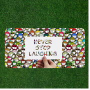Custom License Plate Auto Tag With Never Stop Laughing Colorful Smiley Emoji New