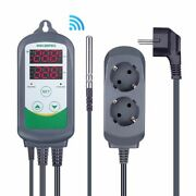 Digital Temperature Controller Thermostat Regulator Dual Relay Heating And Cooling