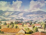 Highlands Of Guatemala- 27x19 De Leon Campos Vintage Oil Painting Collectible