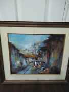 27x24x1 Vintage Latin America Oil Painting Homedecor Collectible