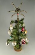 Antique Bohemian Czech Goose Feather Tree Christmas Tree + Free Gift Ornaments