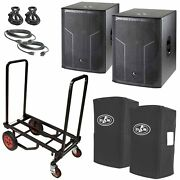 Das Action-s18a 18 Subwoofers Pair + Transport Cart + Cables + Covers