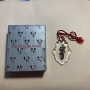 Reed And Barton Crystal And Sterling Mickey Mouse Ornament Used