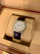 Ebel 1911 35mm Ivory Roman Dial - Yellow Gold And Steel On Strap