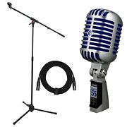 Shure Super 55 Deluxe Vocal Microphone With Adjustable Boom Stand