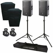 2 Das Vantec Active 12 Bi-amped High-output 2-way Speakers W Stands And Covers