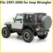 Smittybilt Black Replacement Soft Top And Rear Tinted Windows For Jeep Wrangler Tj