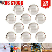 20x Clear Plastic Ball Baubles Sphere Fillable Christmas Xmas Tree Ornament Gift