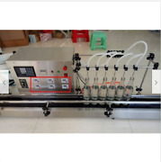 6 Heads Full Automatic Liquid Filling Machine 10-500ml Stainless New S