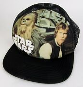 Rare 70and039s - 80and039s Vtg Official Star Wars Hans Solo Chewbacca Ball Cap Lucus Films