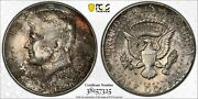 1968-d Silver Kennedy Half Dollar Pcgs Ms64 Unc Color Bu Deep Red Toned Dr