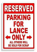 Personalized Parking Sign Wall Decal Metal Sign No Parking Customized For Lance