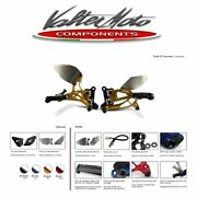 Pey043r Valter Moto Rearsets T2.5 Gold Yamaha Yzf-r1 - 1998 2001