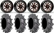Fuel Triton Orange 22 Wheels 37 Bkt At 171 Tires Polaris Rzr Turbo S / Rs1